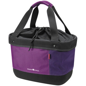 KlickFix Shopper Alingo Bike Bag, brombeer